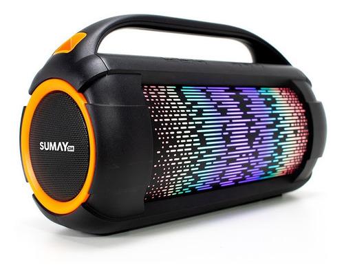 caixa de som sumay portátel leve firebox c/ bluetooth 60w