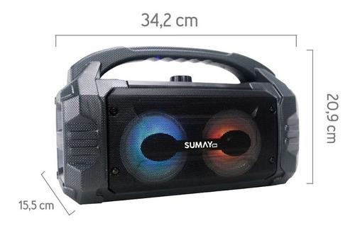 caixa de som sumay portátil leve sunbox c/ bluetooth