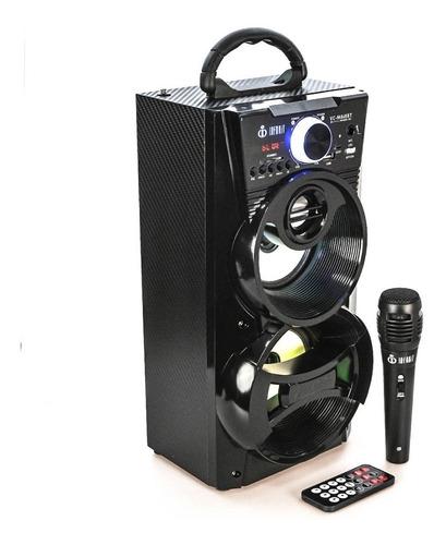 caixa de som super bass bluetooth radio fm usb sd microfone