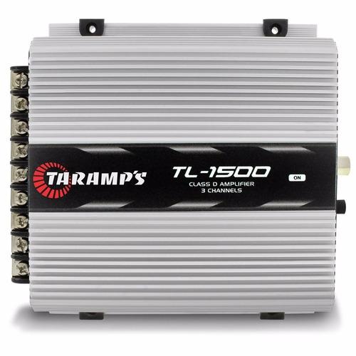 caixa de som trio 1340w sub12 street + taramps tl 1500 w
