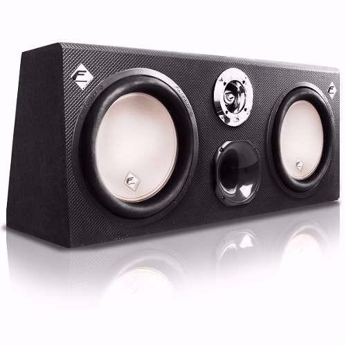 caixa de som trio dupla dutada falcon 12 600w rms cx12 td1n