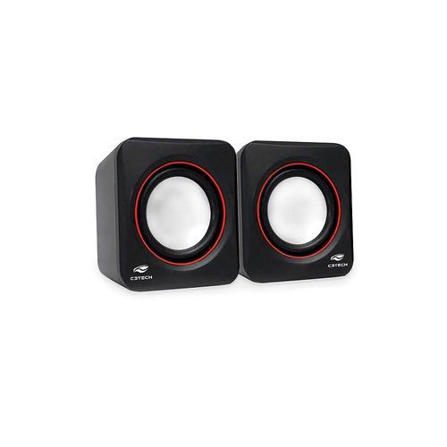 caixa de som usb c3 tech 2.0 sp-301bk preta