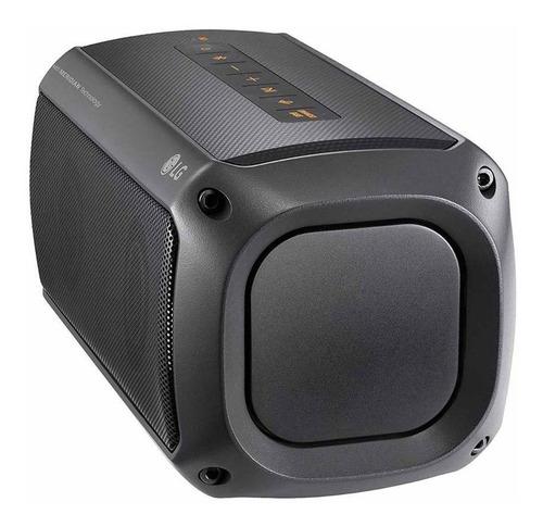 caixa de som xboom go pk3  lg preta bluetooth à prova d´água