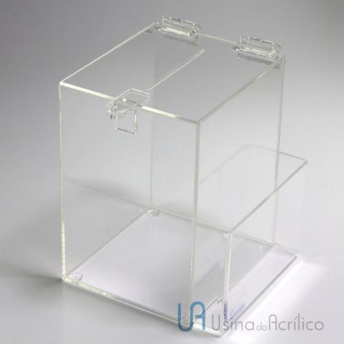 caixa de sugestões paralelepípedo altura 26 cm
