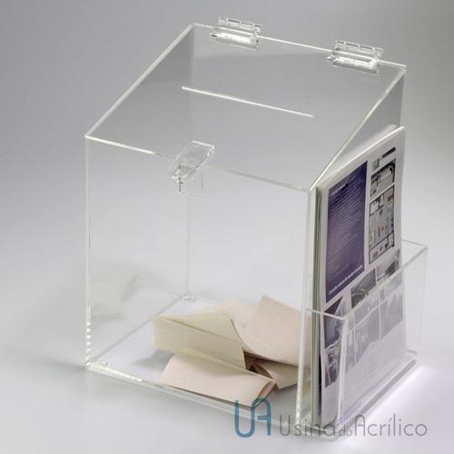 caixa de sugestões tampa inclinada 25 cm altura