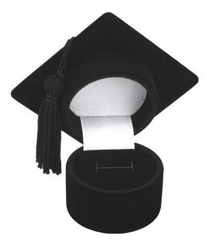 caixa de veludo modelo formatura para anel ou par de brincos