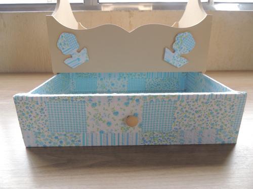 caixa decorativa artesanato utensílios ou esmalte em mdf