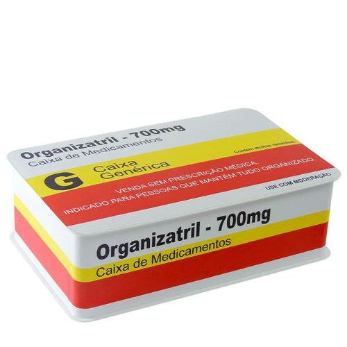 caixa decorativa remédio organizatril