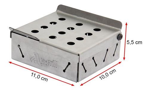 caixa defumação smoke box inox 11x10 cm