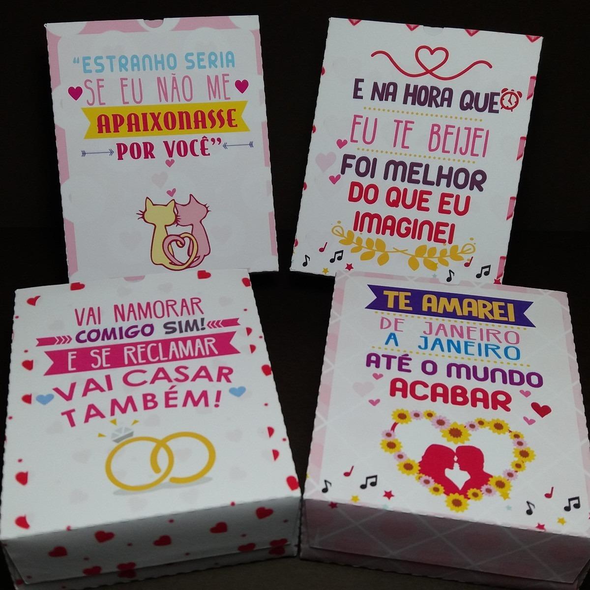 Caixa Dia Dos Namorados Personalizada Frases De Musica R 900 Em