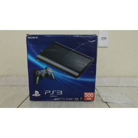 Caixa Do Ps3 Super Slim 500 Gb (vazia) Usada
