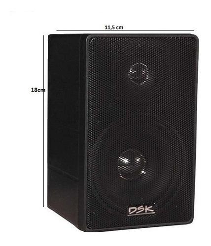 caixa dsk 65w sonorização som ambiente 8 ohms