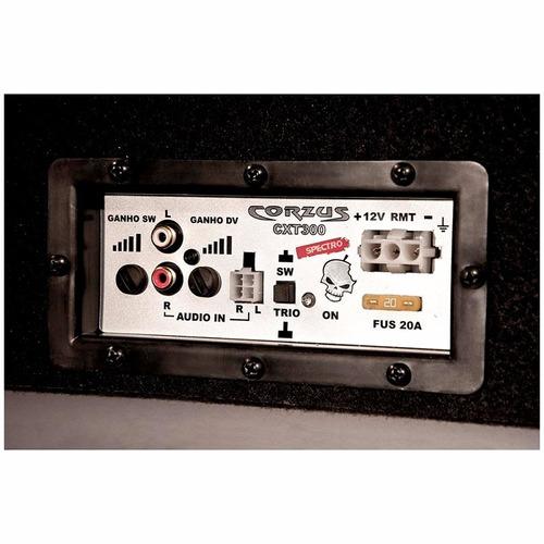 caixa dutada 12 trio falante driver 300w rms amplificada