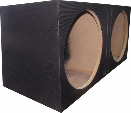 caixa dutada p/  2 sub 15 pol. bravox rave grave forte