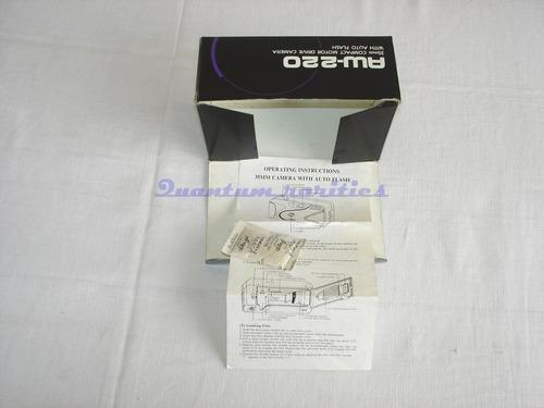 caixa e folheto operaçao maquina fotografica aw-220 olympus