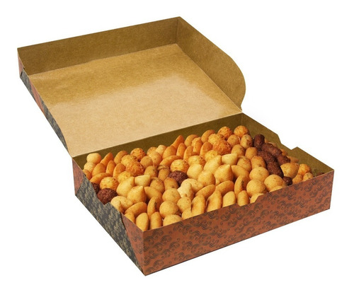 caixa embalagem salgado, salgadinhos delivery  (100unid)
