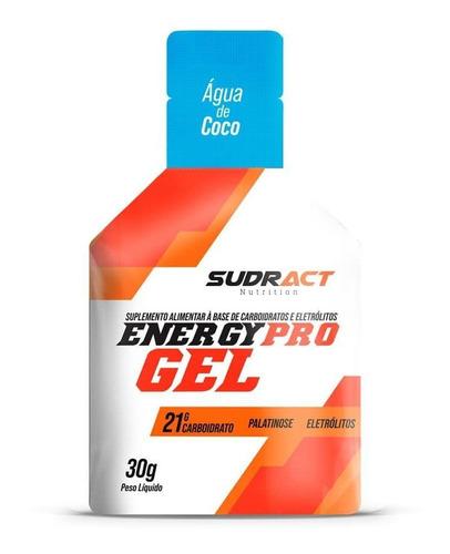 caixa energy pro gel 15 sachês de 30g água de côco sudract