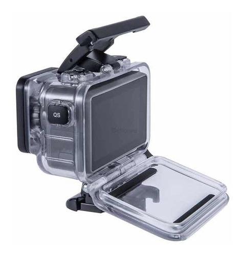caixa estanque + capa silicone + película pra osmo action