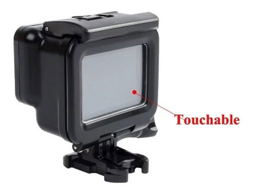 caixa estanque case blackout gopro hero 5, 6 + touch 60m