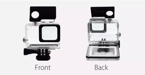 caixa estanque gopro 5 6 com tela touch + boia flutuante