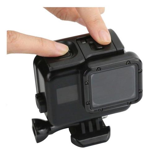 caixa estanque gopro hero5 hero6 hero7 black mergulho preta