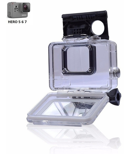 caixa estanque p/ gopro hero 7 white / gopro hero 7 silver
