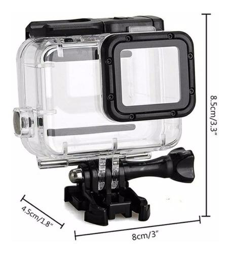 caixa estanque para gopro hero 5,6,7 e 2018 40m waterproof