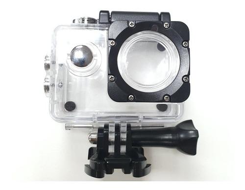 caixa estanque similar sjcam sj4000 com suporte e parafuso.