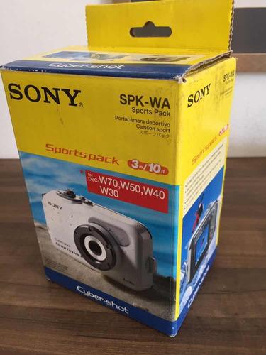 caixa estanque sony original nova! + câmera sony w30