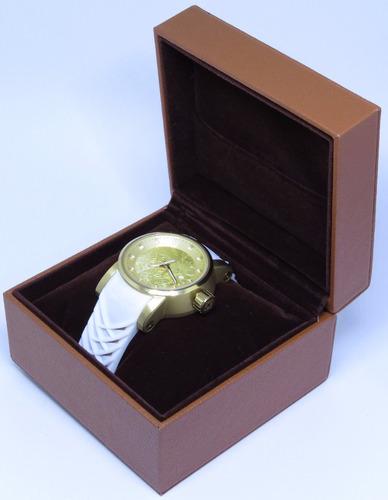 caixa / estojo de luxo marrom para relógios c/almofada lindo