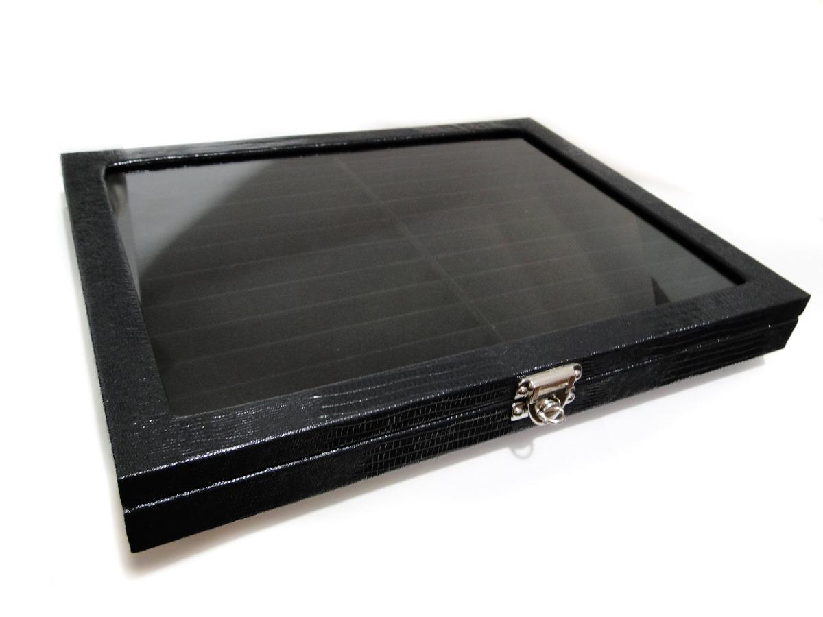 Caixa Estojo De Luxo Porta 24 Canetas Tampa De Vidro R$ 79 00 em  #71685A 1200x900