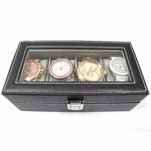 caixa estojo p/ 4 relógios organizador luxo pronta entrega