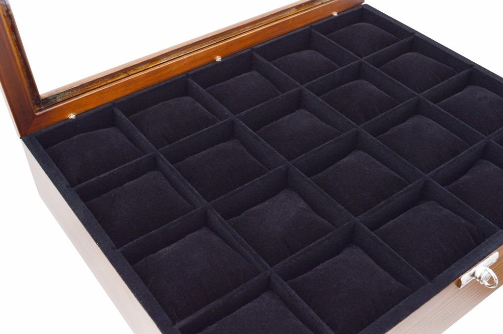 c96fd1ac4a6 caixa estojo para 20 relógios em madeira maciça total luxo. Carregando zoom.
