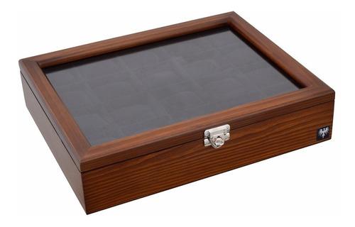 caixa estojo para 20 relógios em madeira maciça total luxo.