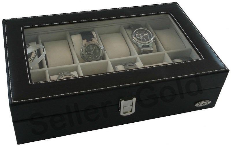 f3459c24f18 ... maleta estojo porta relógio. Carregando zoom.