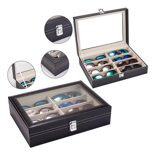 caixa estojo porta 8 oculos guarda caixa organizadora luxo