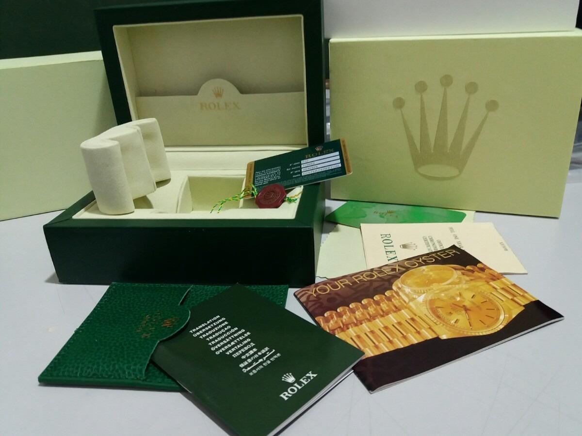0fa059c3999 Caixa Estojo Box Relogios Rolex Mod Original Man Certificado - R ...