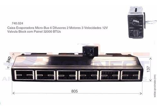 caixa evaporadora ar condicionado 32.000btu's 6 difusores