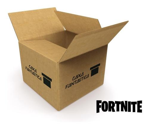 caixa fantástica fortnite c/ 3 itens super lançamento