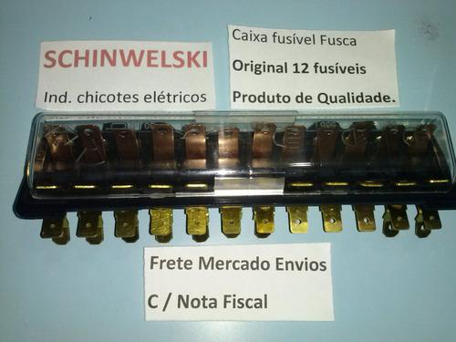 caixa fusível fusca 12 polos schinwelski +esquema chicote cx