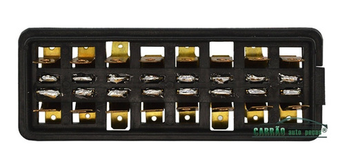 caixa fusivel tipo porcelana saida lateral 8 vias universal