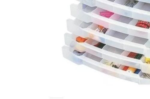 caixa gaveteiro plástico organizador multiuso com 30 divisor