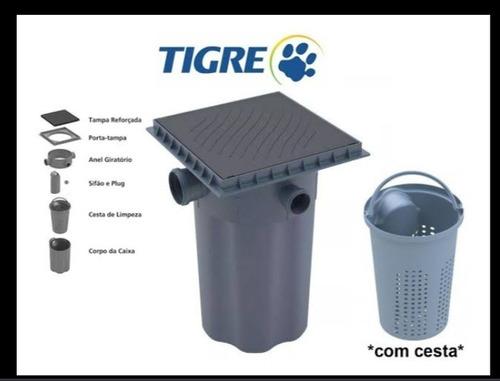caixa gordura tigre dn100 c/ cesto de limpeza