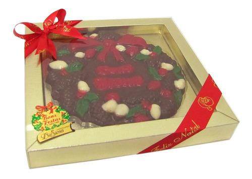 caixa guirlanda natalina de chocolate 140g