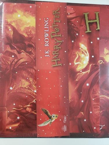 caixa harry potter- edição premium + pôster exclusivo - novo