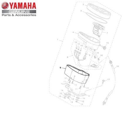 caixa inferior dos medidores yamaha xtz 125 03/16 original