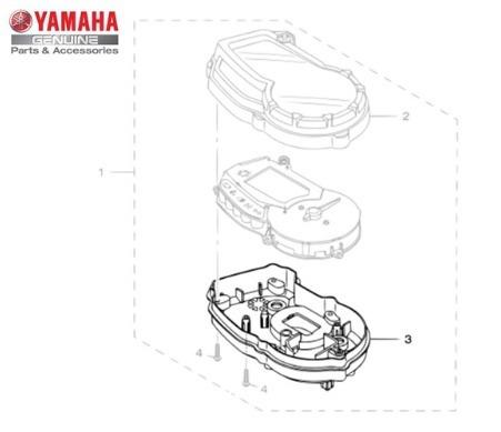 caixa inferior dos medidores yamaha ys fazer 150 original