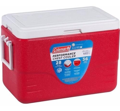 caixa isotérmica 28qt, 26,5 litros coleman camping + frete