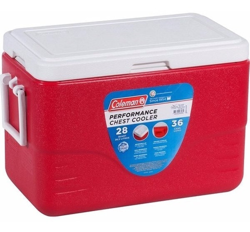 caixa isotérmica 28qt, 26,5 litros coleman camping pesca