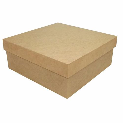 caixa lisa 15x15x5 mdf crú lembrancinhas casamento 2,19